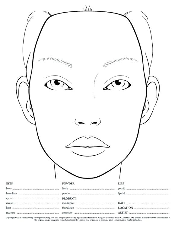 580x751 Blank Face Coloring Page Genesisar.co