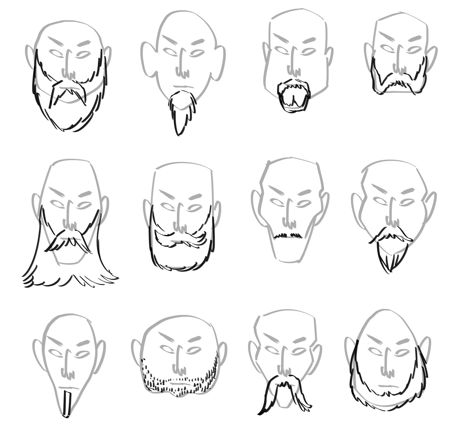 1600x1486 Drawing Male Face Shape Types