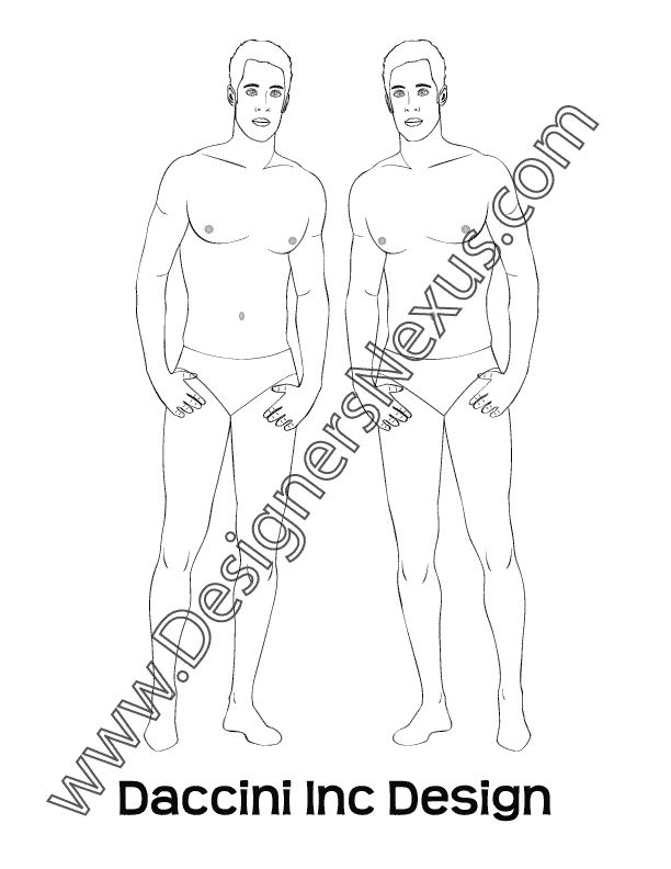 612x792 14 Best Free Male Fashion Croquis Templates Images