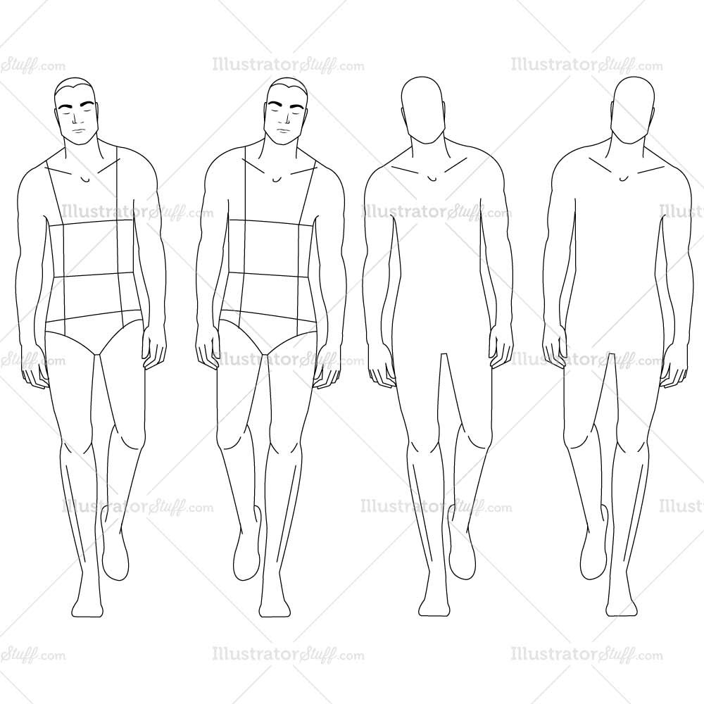 1000x1000 Male Fashion Croquis Template Croquis, Sketches And Drawing
