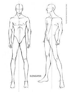 236x305 Man Male Body Figure Fashion Template (D I Y Your Own Fashion