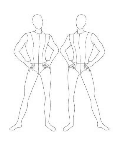 400x500 Photos Male Fashion Drawing Figure Template,