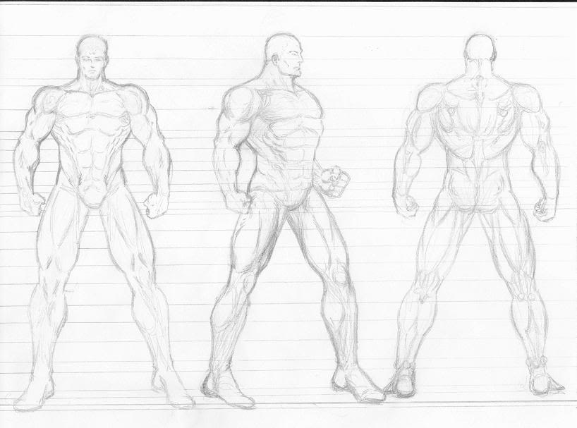 818x607 Figure Drawing Models Male Male Figure Template Character