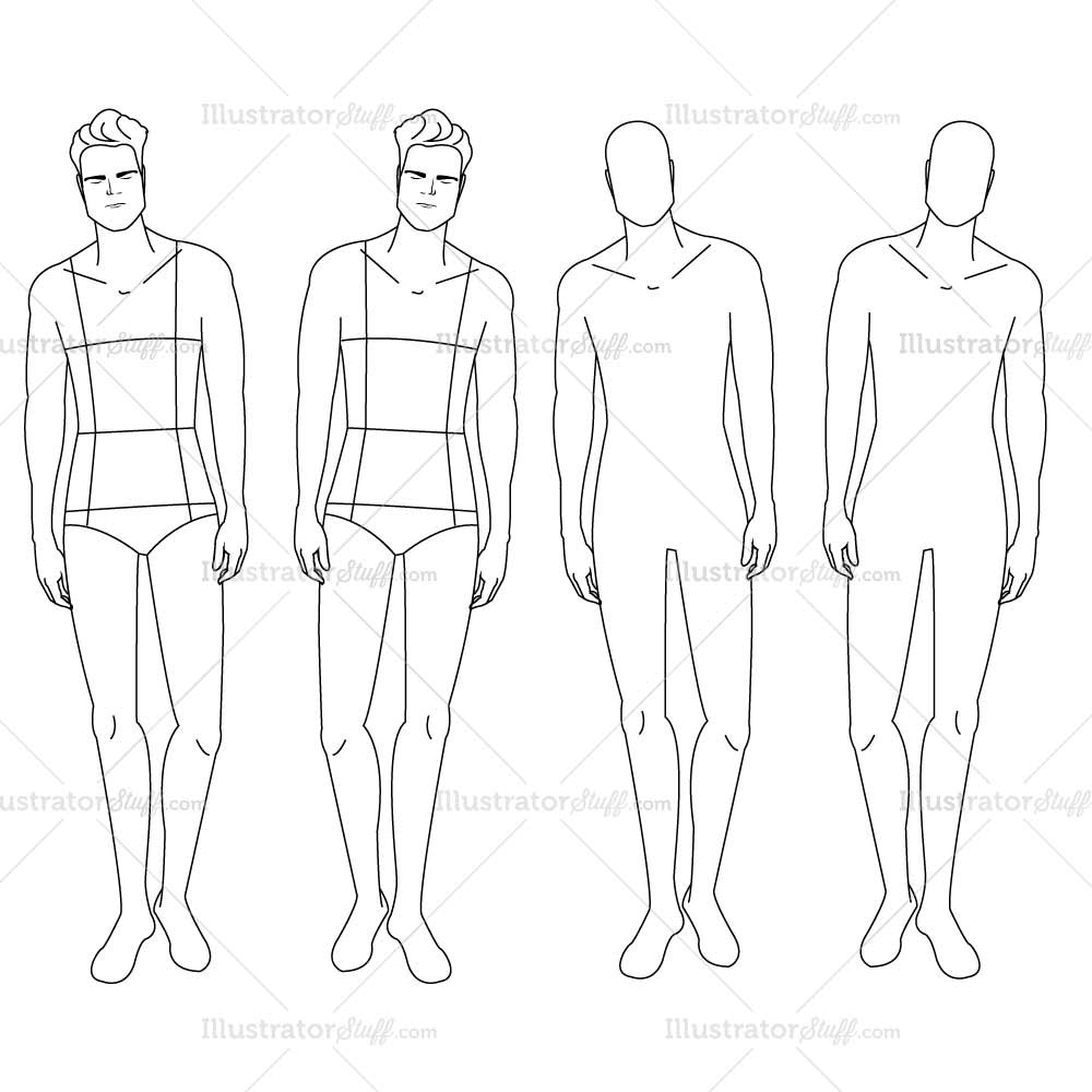 1000x1000 Male Fashion Croquis Template Croquis, Male Fashion And Template