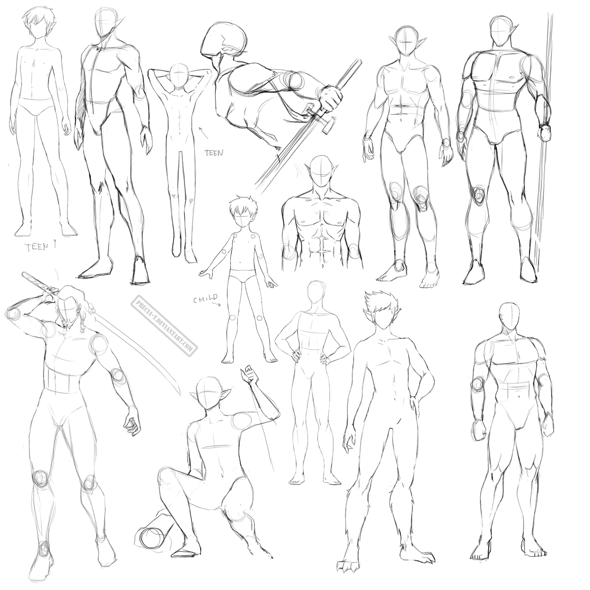 It's just a graphic of Declarative Figure Drawing Male