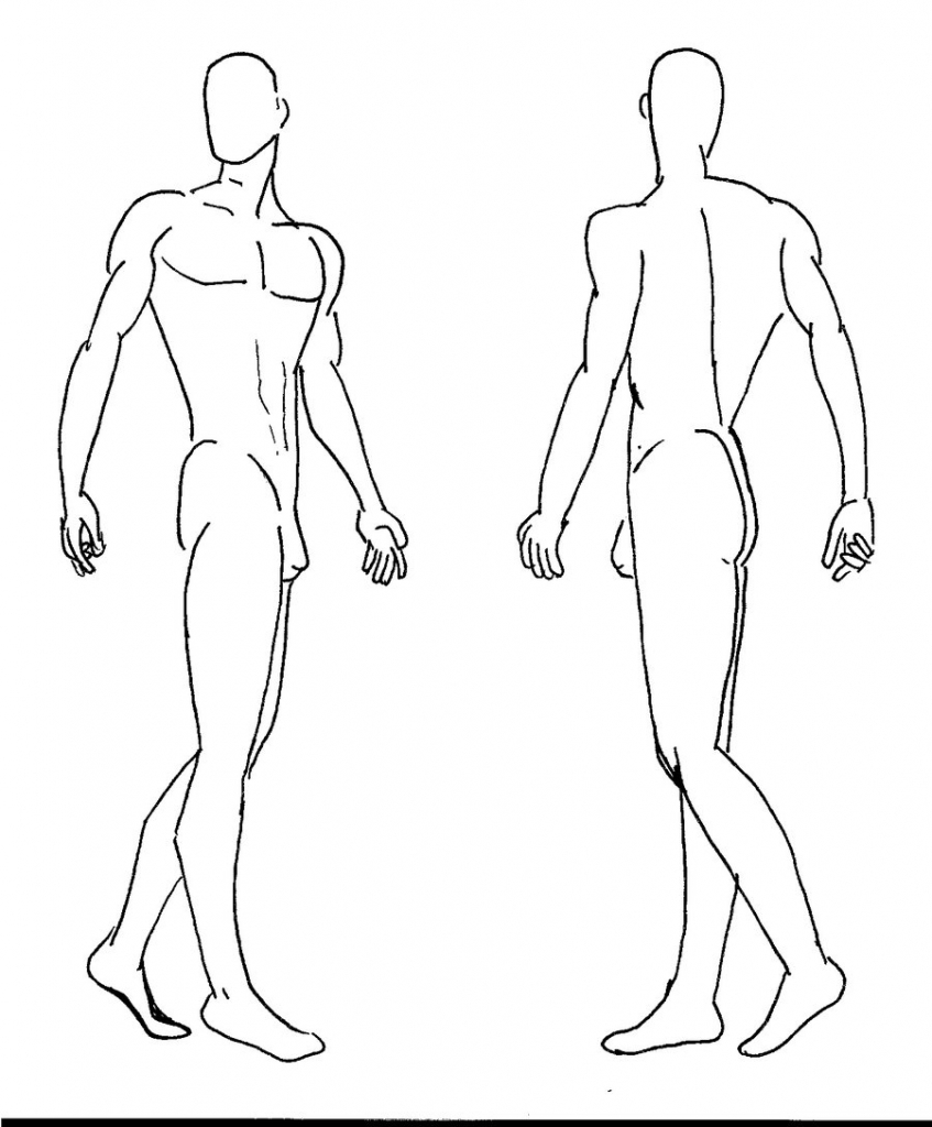 Male Figure Drawing Templates at GetDrawings.com | Free for personal ...