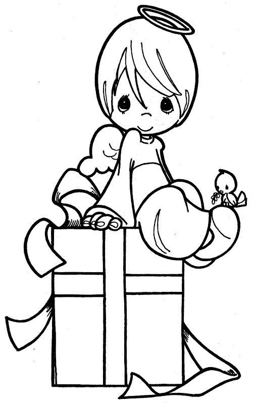 503x800 Guardian Angel Coloring Pages