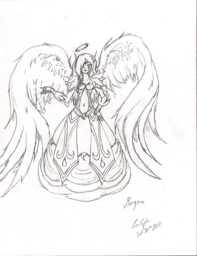 785x1018 Guardian Angel Morgana Sketch By Mitsiecake