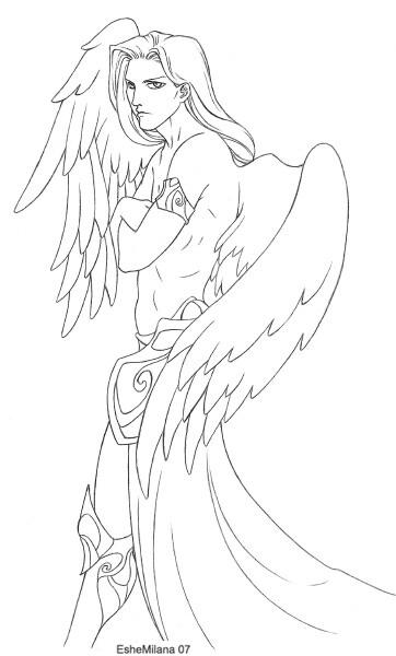 362x600 Guardian Angel By Eshemilana