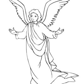 268x268 Male Guardian Angel Coloring Page Az Coloring Pages Male Angel
