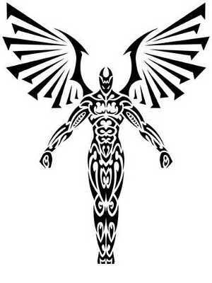 300x400 Tribal Angels Tattoos Tattoo Ideas Tattoo, Tattoo