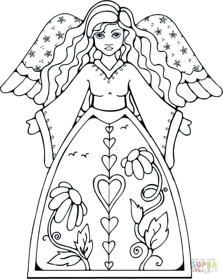 728x910 Angels Coloring Pages Print