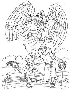 236x300 Guardian Angel Coloring Pages Coloring Page For Kids