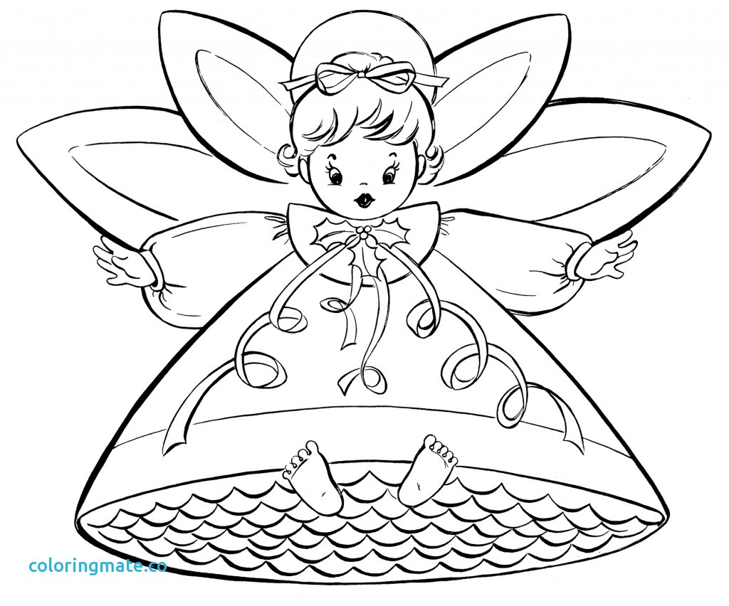 1024x852 Angel Coloring Pages Awesome A Guardian Angel Coloring Page Color