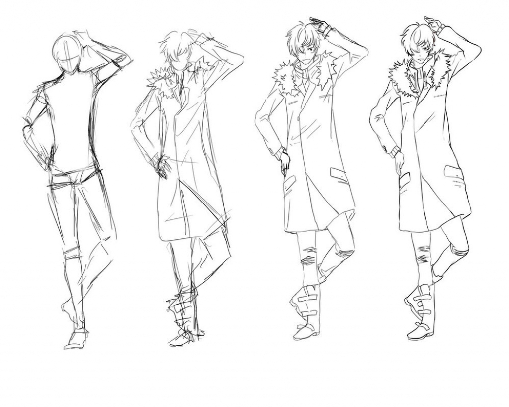 1024x818 Draw Anime Male Draw Anime Male Hair 22