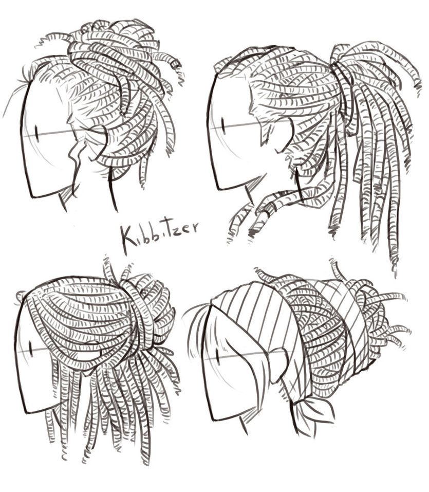 835x957 Dreadlocks Reference Sheet By Kibbitzer Drawing People