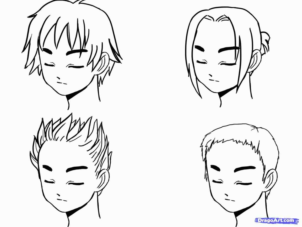1264x948 American Hair Hairstyle Stock Vectors Drawn Boy Spiky Pencil