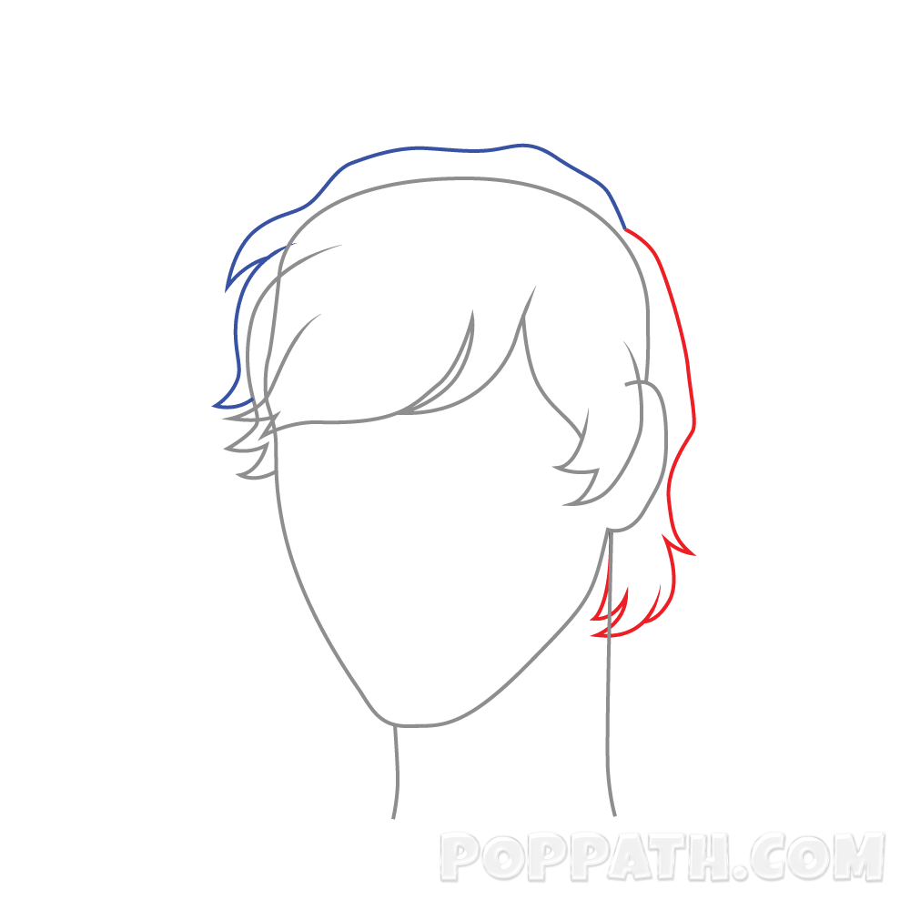 1000x1000 How To Draw Male Hairstyle 2 Pop Path
