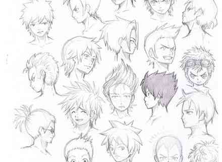 how to draw male hairstyles