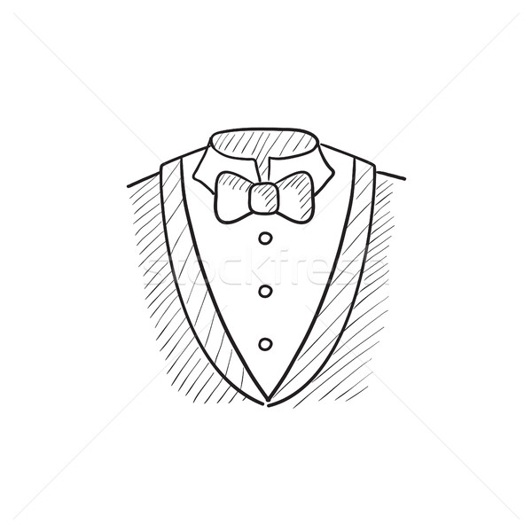 600x600 Male Suit Sketch Icon. Vector Illustration Andrei Krauchuk