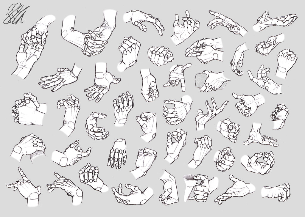 1024x730 Hand Studies Male Hands (Robotized) By Hirvios