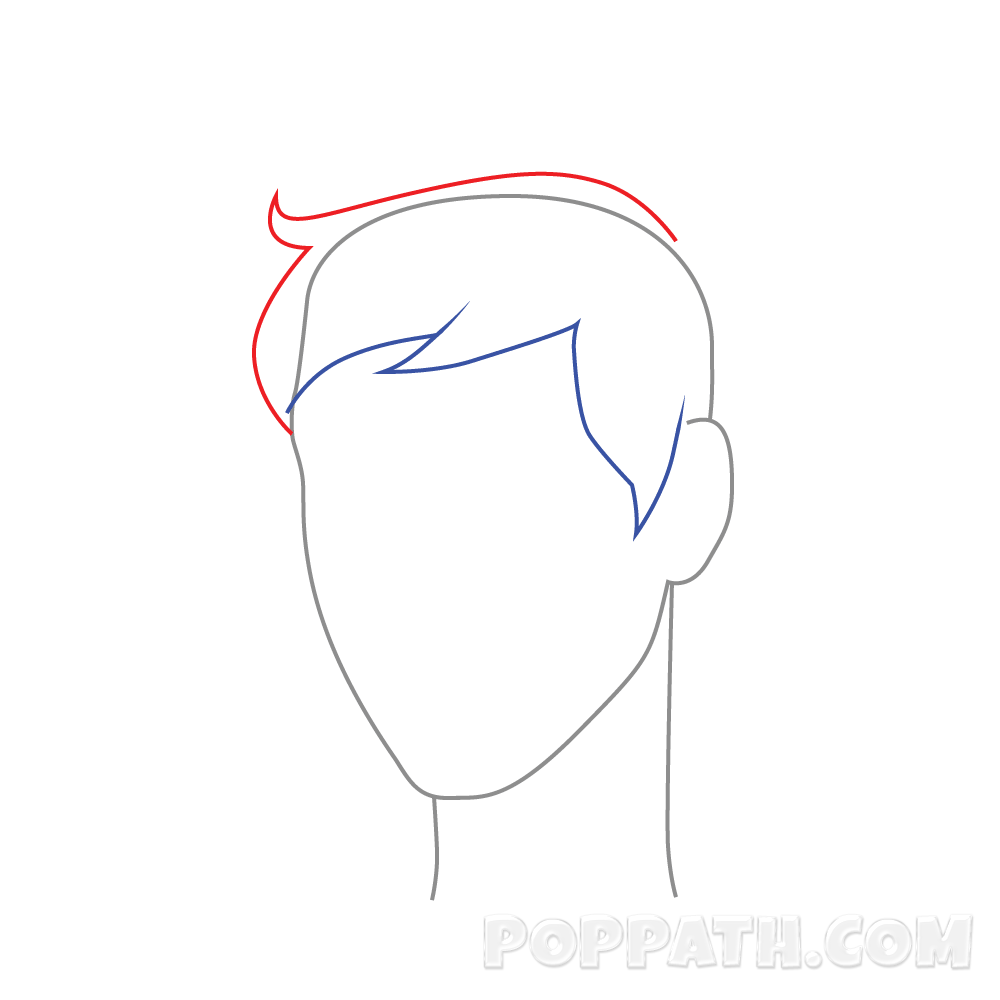 1000x1000 How To Draw Male Hairstyle 10 Pop Path