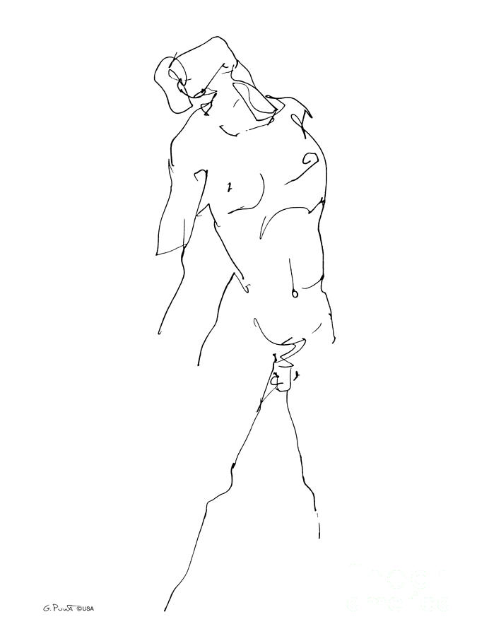 675x900 Nude Male Drawing 11 Drawing By Gordon Punt