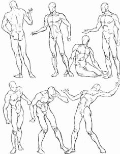 236x302 Life Drawing One Minute Poses Male