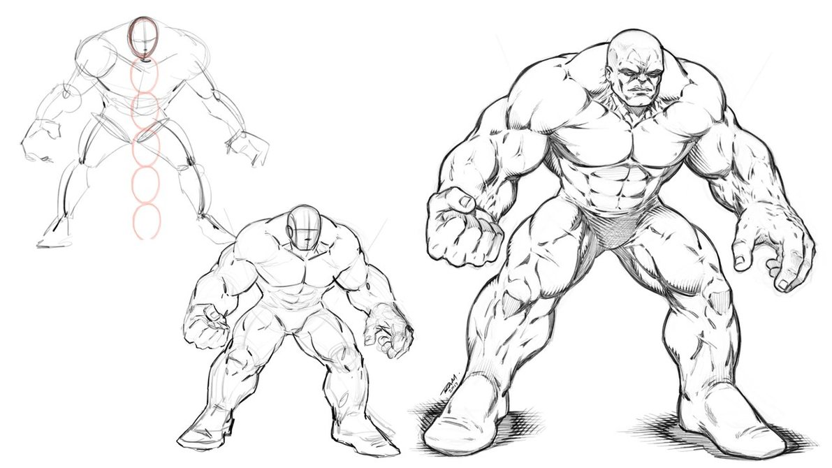 1191x670 Drawing a Hulking Brute by robertmarzullo on DeviantArt