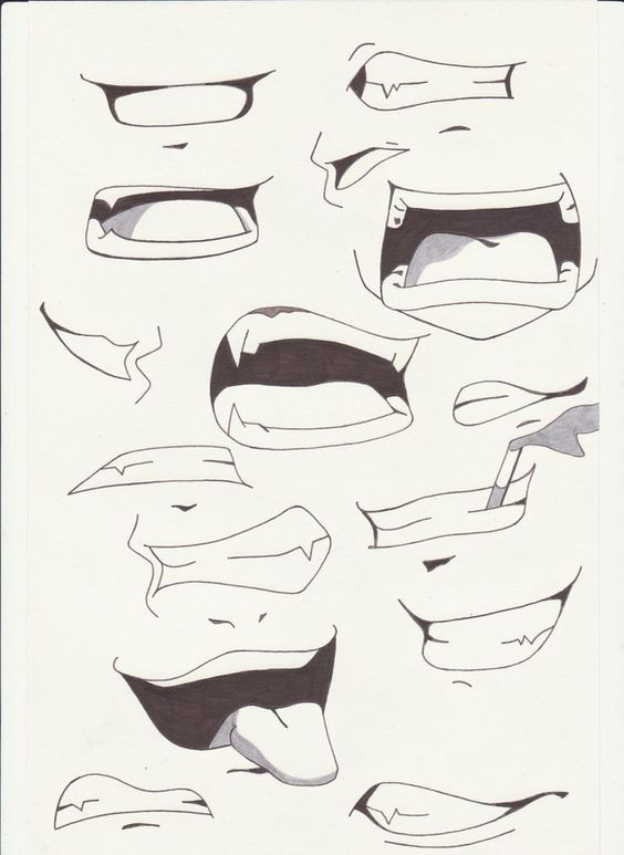 564x773 How to EASY draw mouth expressions … Pinteres…