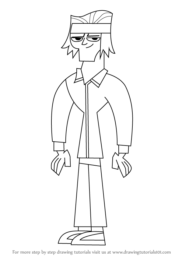 598x844 Learn How to Draw Tyler from Total Drama Island (Total Drama