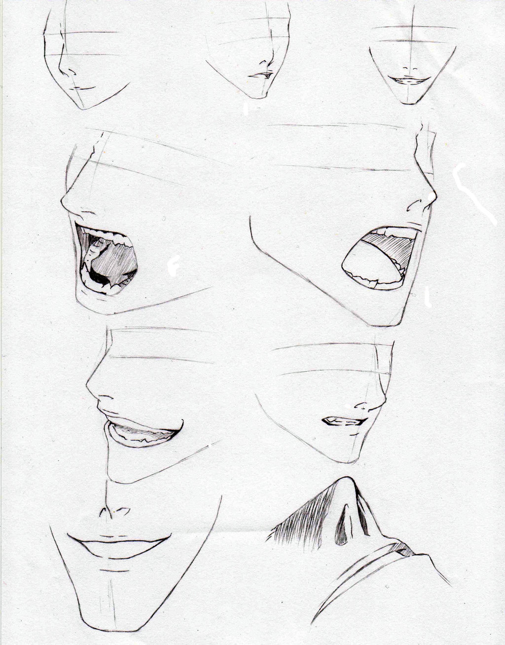 1024x1307 Nose and Mouth reference by on