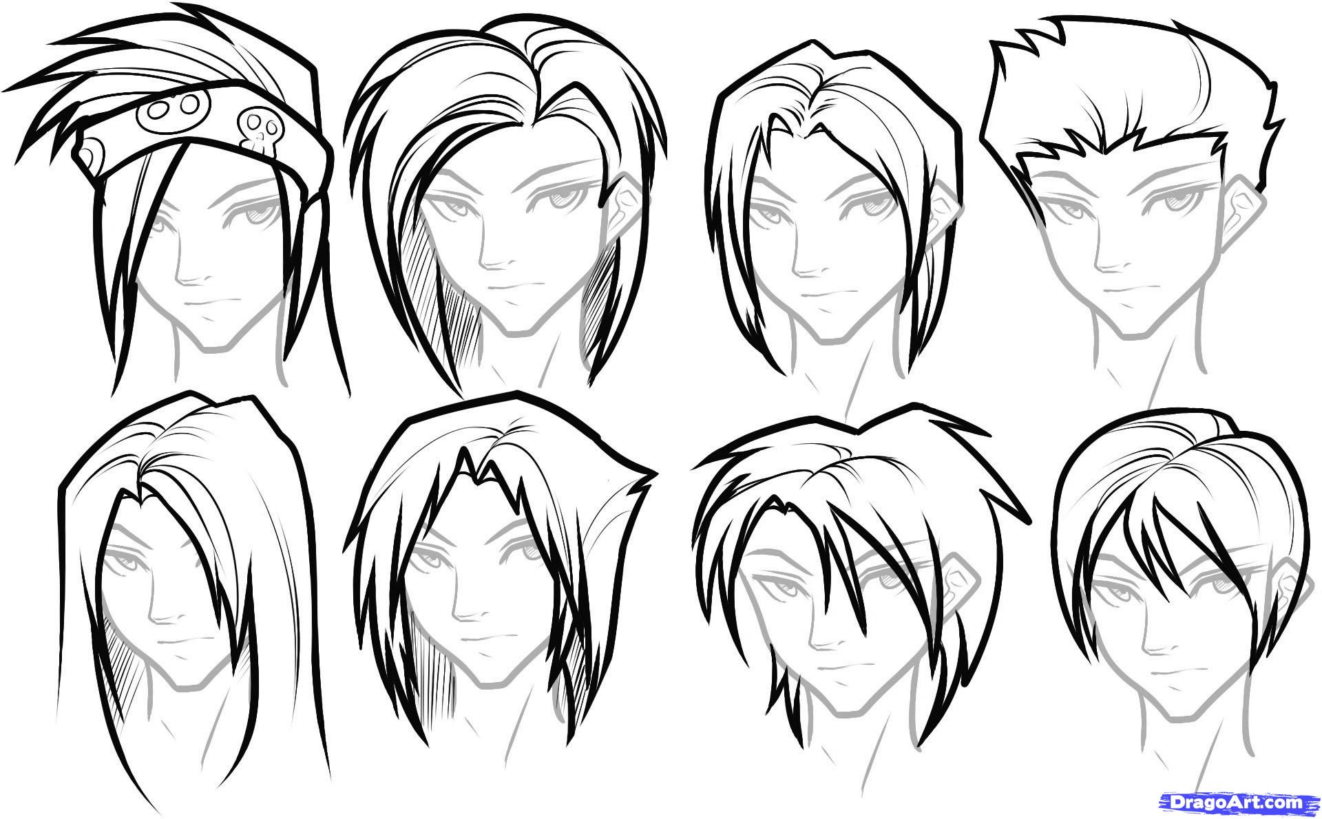1920x1190 To Draw Hair For Boys, Step By Step, Hair, People, FREE Online
