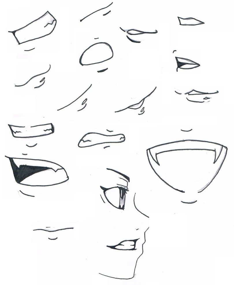 810x986 mouths by marly sohma on DeviantArt Anime et manga Pinterest