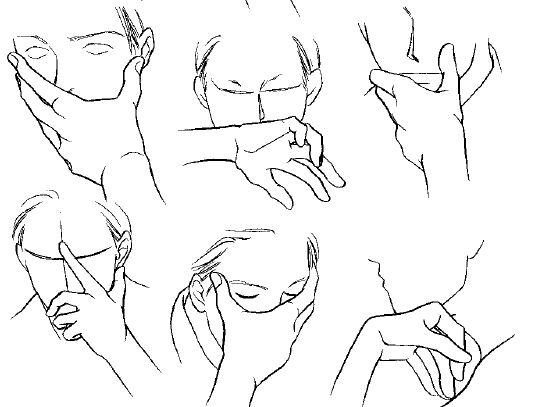 538x407 Drawn Finger Hand Poses