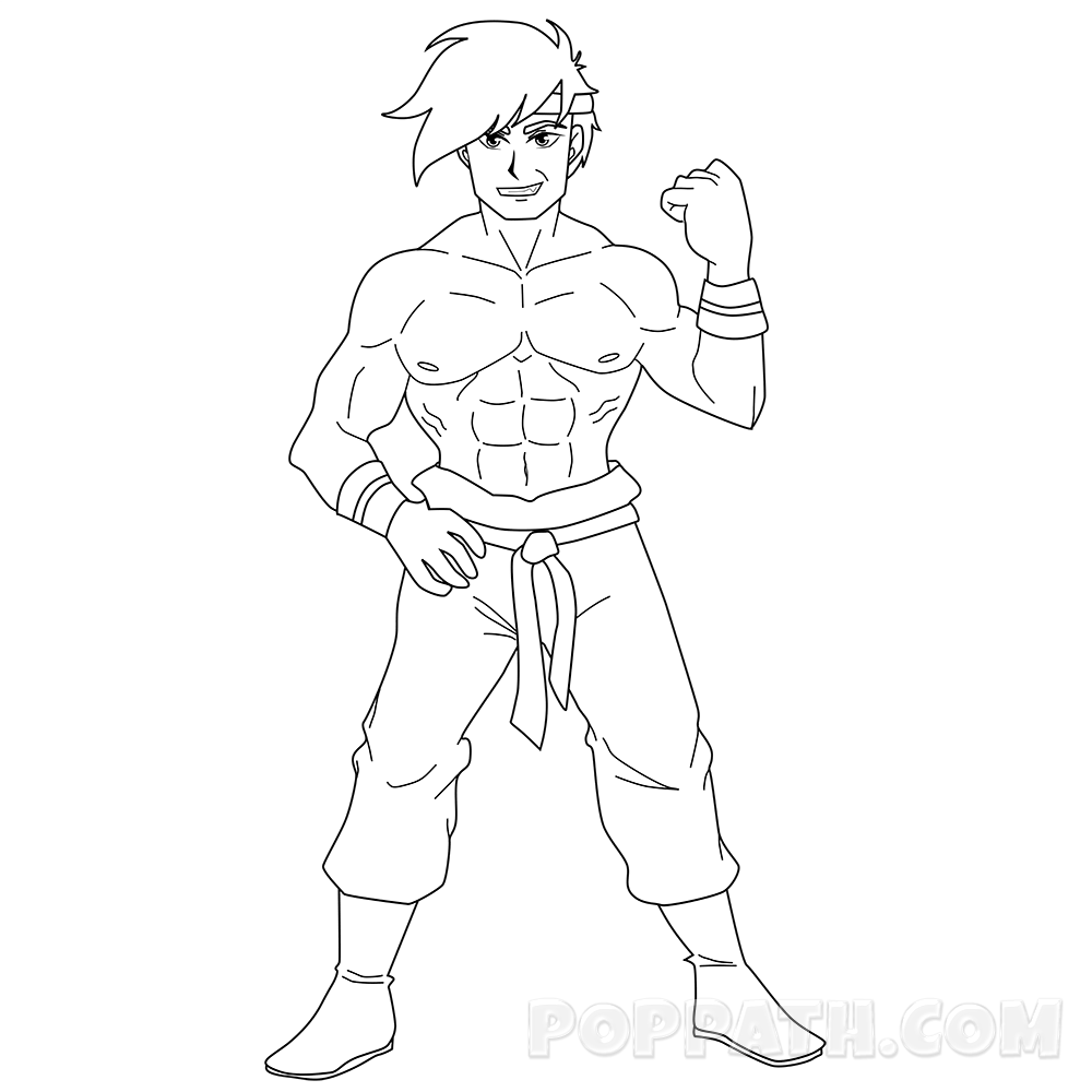 1000x1000 How To Draw A Muscle Man Pop Path