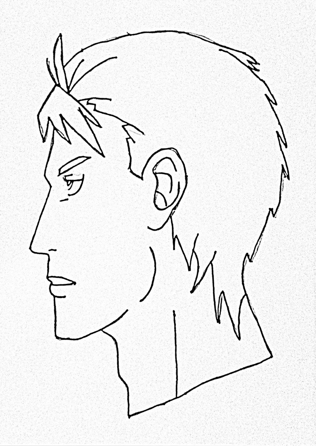 1024x1444 How To Draw Male Anime Face Side View Step By Step For Beginner