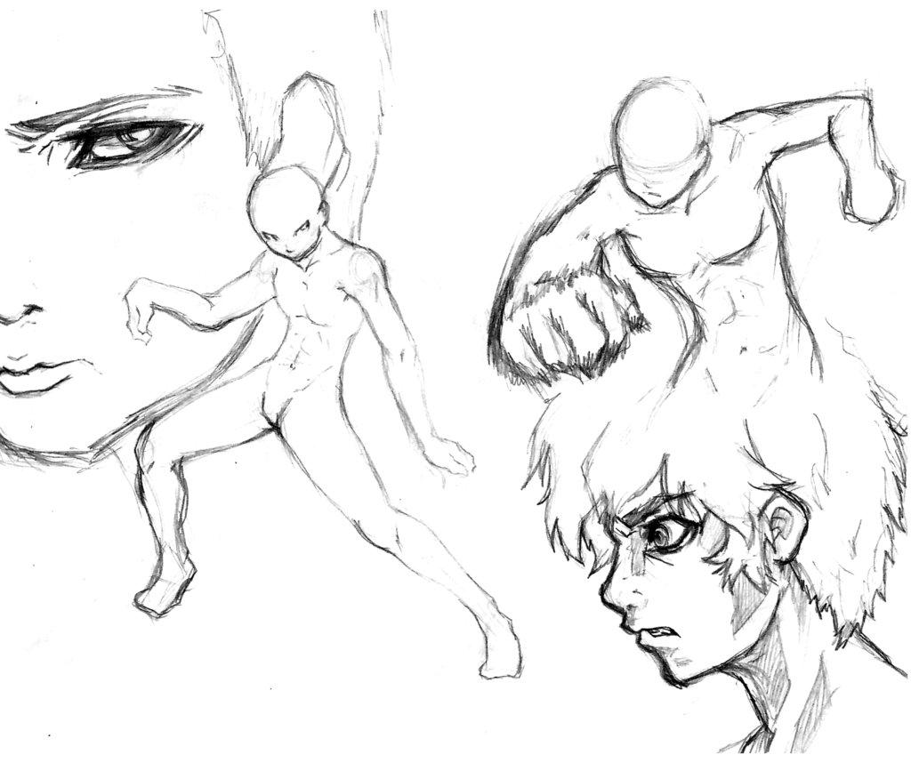 1024x858 Male Body Sketch By Xteve