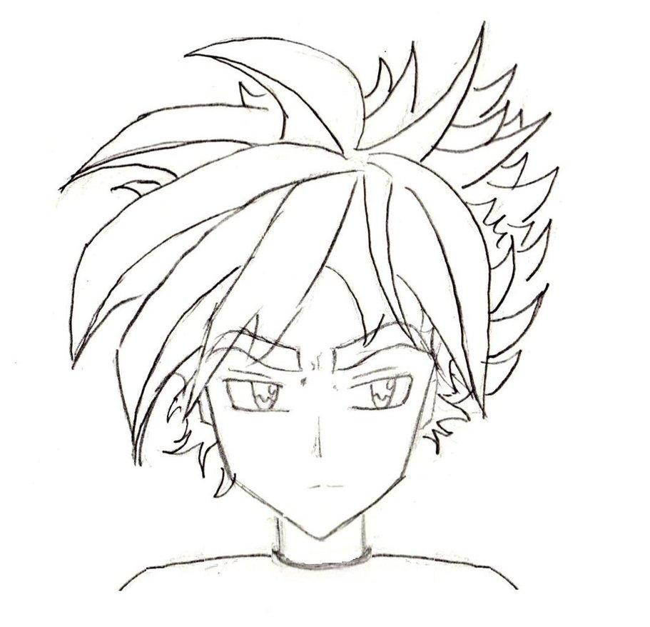 911x878 Manga Character Sketch Male I