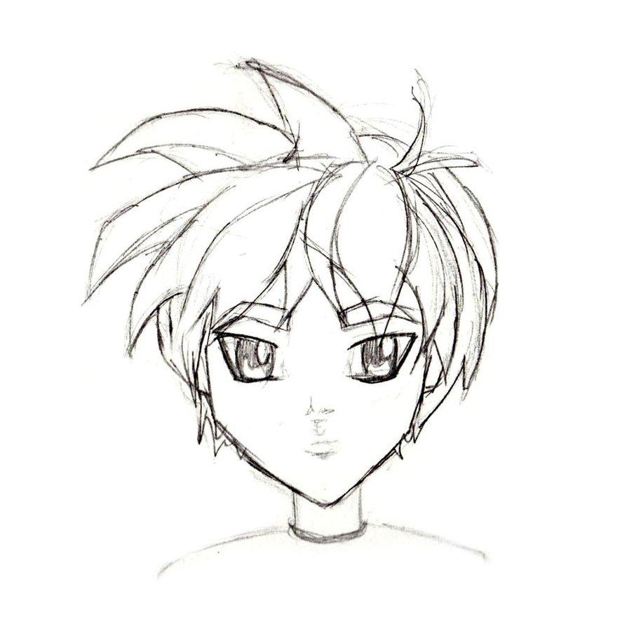 894x894 Manga Character Sketch Male I