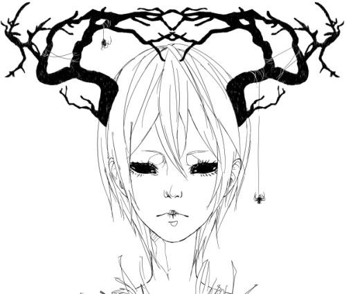 500x426 Drawing Black And White Anime Manga Monochrome Single Sketch Bw Oc