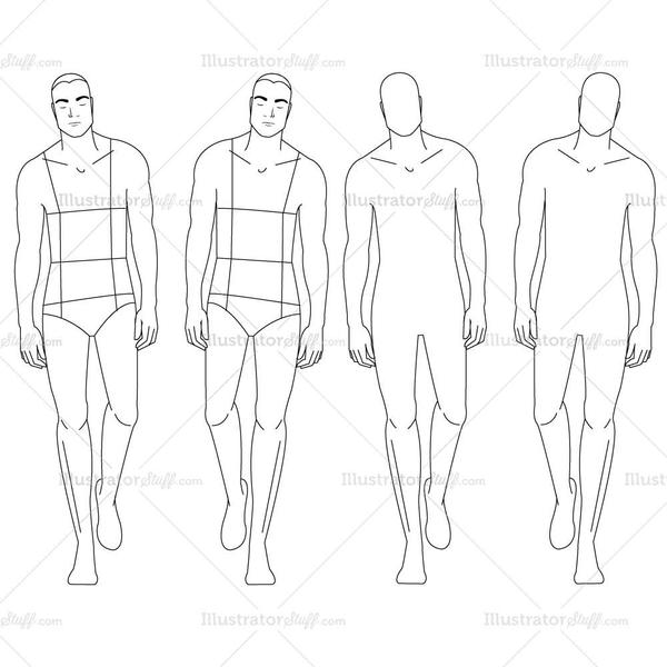 Male Model Drawing