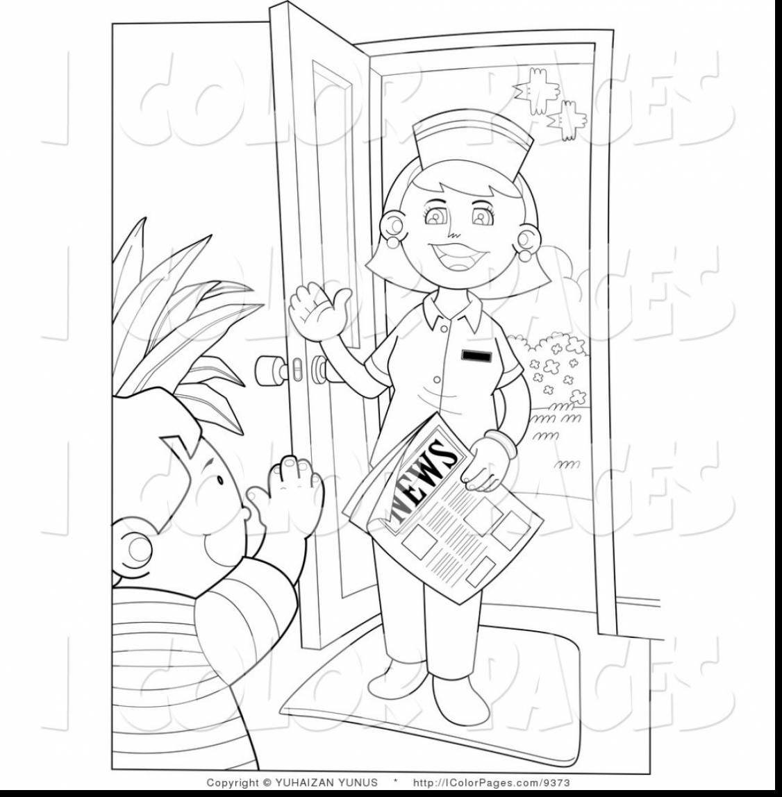 1126x1148 Good Male Nurse Coloring Pages With Nurse Coloring Pages
