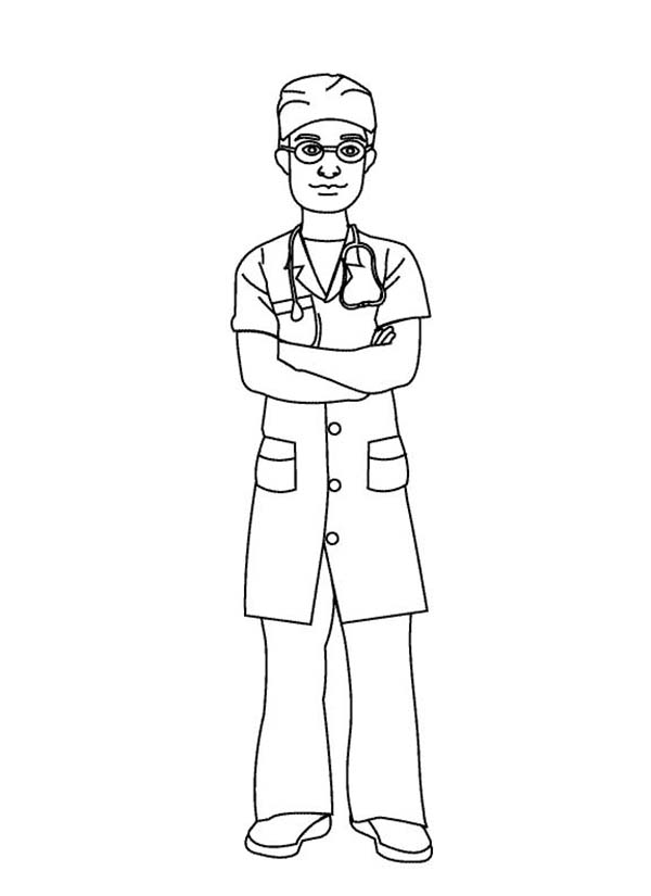 600x825 Male Nurse Coloring Pages Nurse Appreciation Coloring Page
