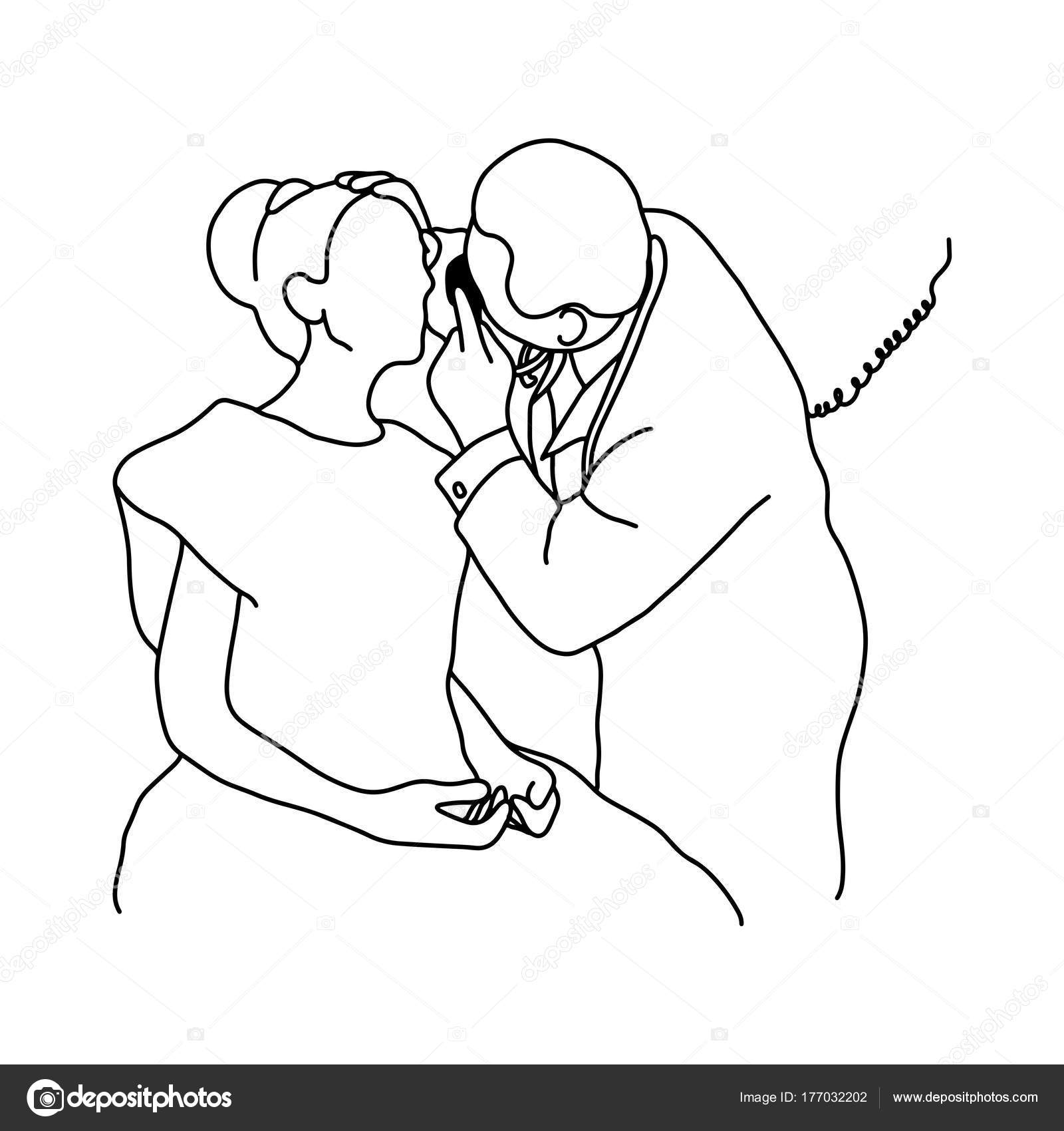 1600x1700 Male Doctor Check Up Eye Of Female Patient With Equipment Vector