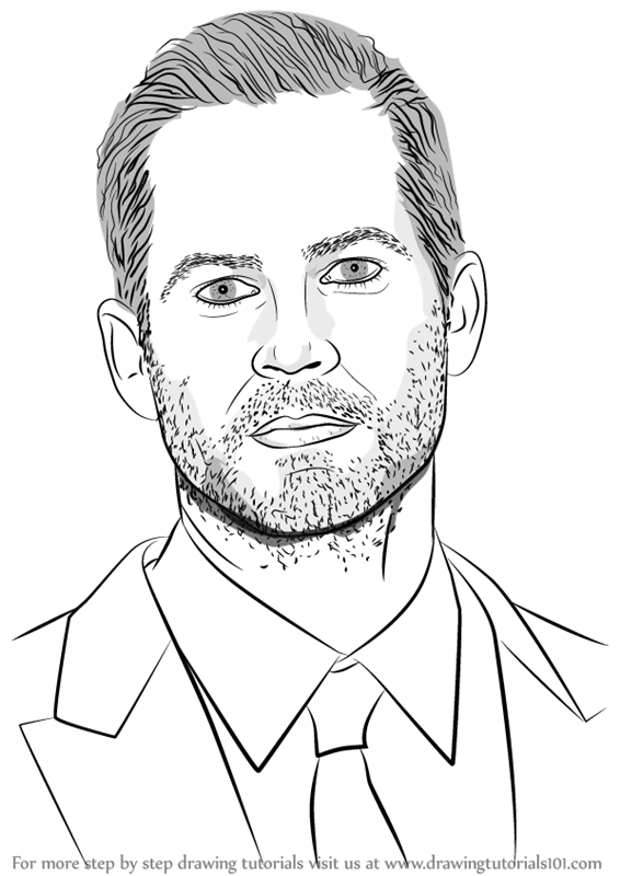 566x800 Learn How To Draw Paul Walker (Celebrities) Step By Step Drawing