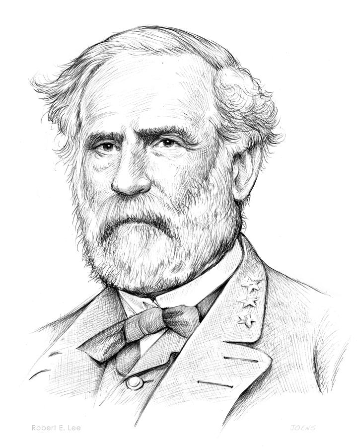 719x900 Robert E. Lee Drawing By Greg Joens