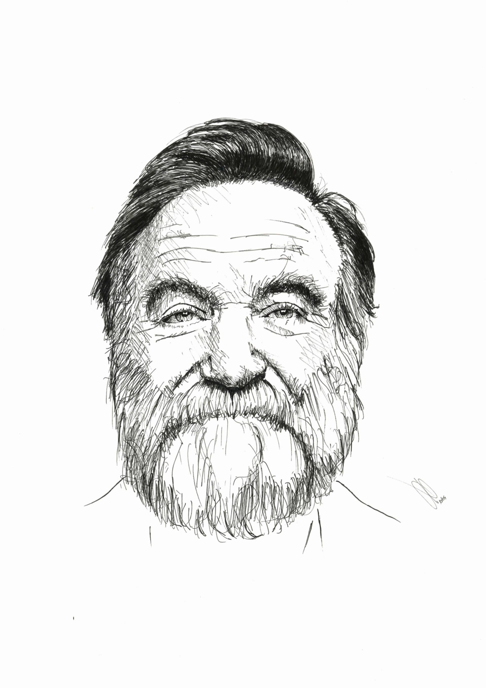 1920x2716 Saatchi Art Robin Williams Drawing By Jan Poncelet