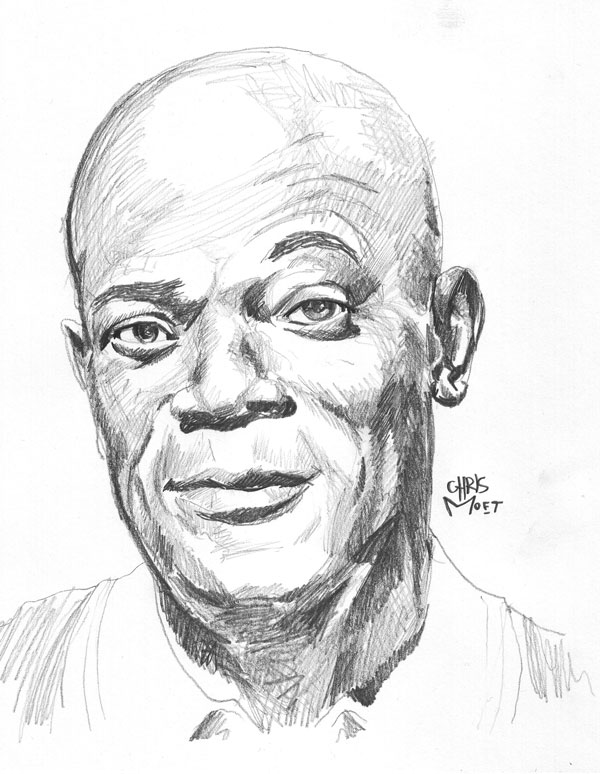 600x774 Samuel L Jackson Draw Toon Pencil Portrait And Draw