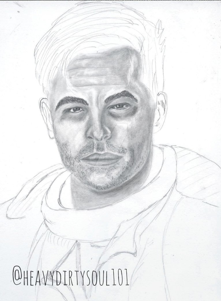 766x1042 Chris Pine Sketch By Muhammadmukhtar